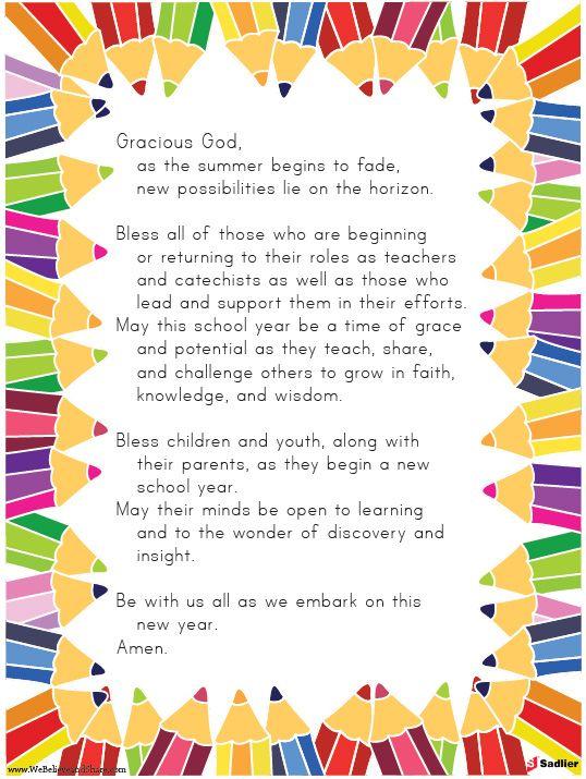Back To School Prayer … | love to rrad | Pinte…