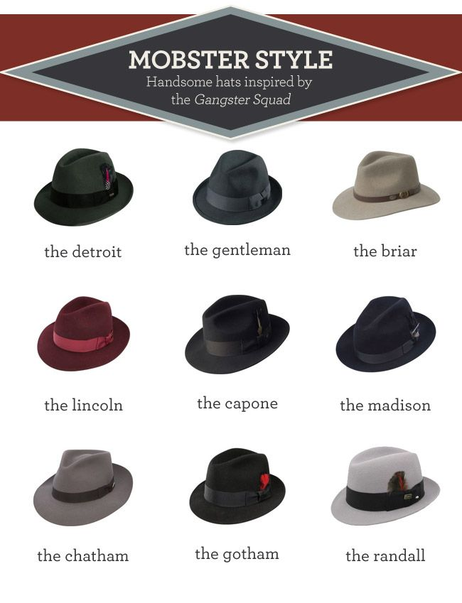 d5f2788940ddc4 Gangster Squad hats | Man Tips | Hats, Gangster style, Gangster wedding