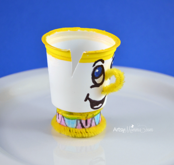 K Cup Craft Chip From Beauty And The Beast K Cup Crafts Beauty And The Beast Crafts Disney Crafts For Kids