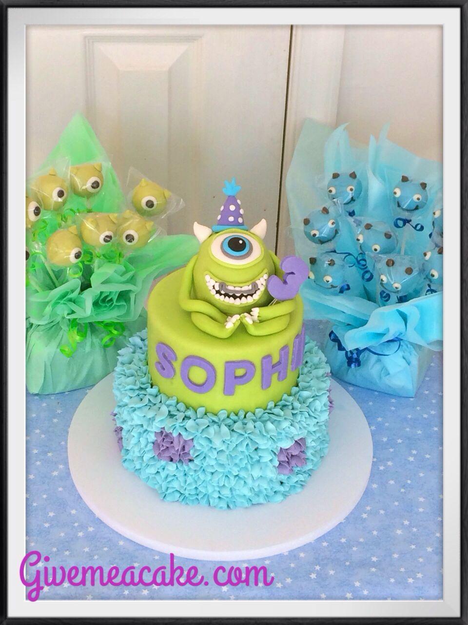Monster University Cake And Pops By Givemeacake Customized Treats At Edison Nj