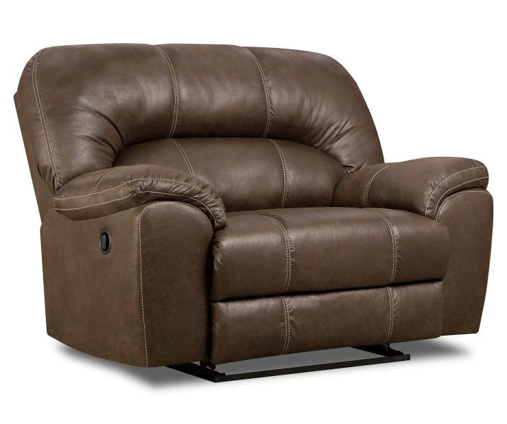 Best Stratolounger Stallion Brown Snuggle Up Recliner 400 x 300