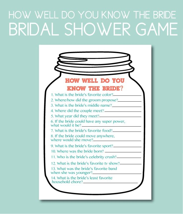 4c4a58fae6c How Well Do You Know the Bride Shower Game. Plan the perfect bridal shower  with our planning tips