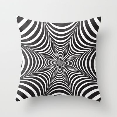 optical illusion Throw Pillow by L & V - $20.00