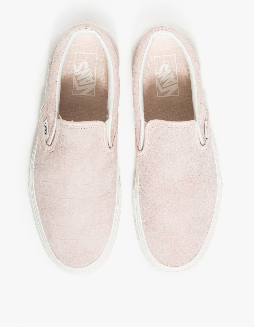 9be321c440786b Vans   Classic Slip-On Iced Pink Croc in 2019