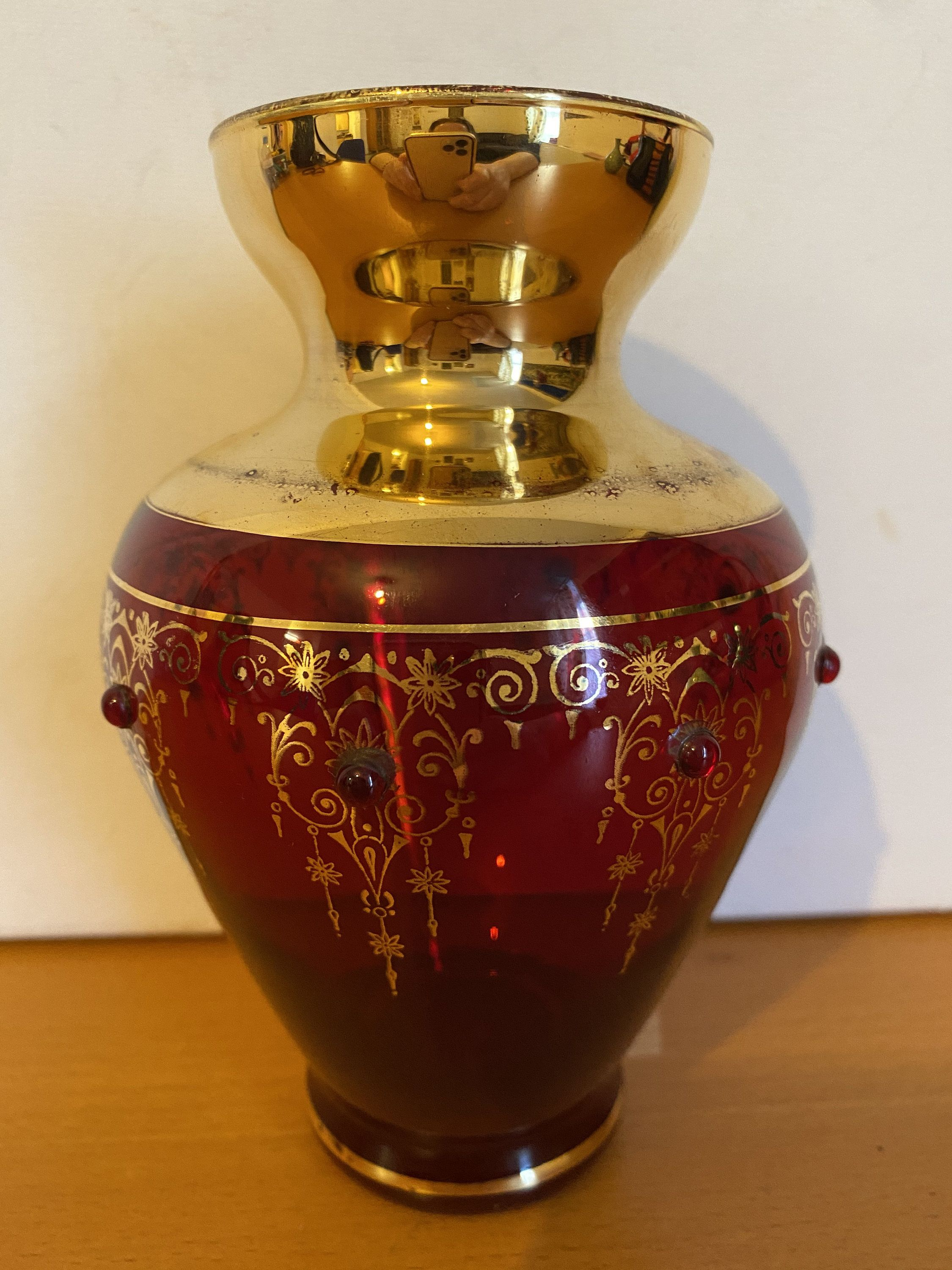 8 Piece Ruby Cups Vases Bowl