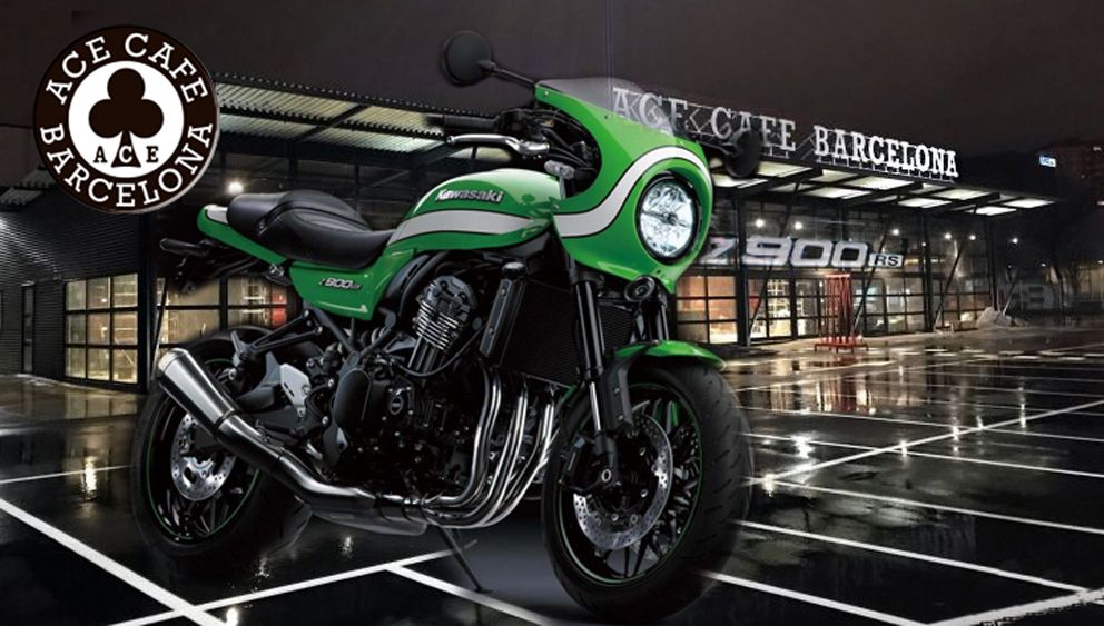 As Novas Kawasaki Z900 RS Retro Sport Apresentadas No Ace Cafe Barcelona