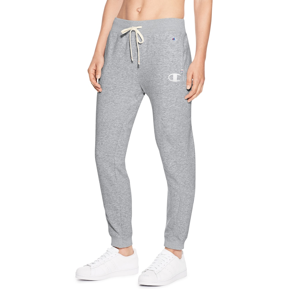 249786573451c4 Women's Champion Heritage French Terry Mid-Rise Jogger Sweatpants, Size:  Small, Dark Grey