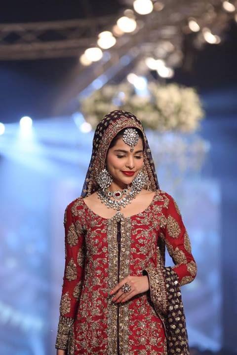 Sana Safinaz Bridal Couture Red Wedding Bride Perfection