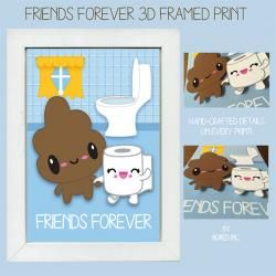 WonderCon 2014 Exclusive - Bored Inc. - 3D Friends Forever Framed Print - Ltd Ed 20 - $22