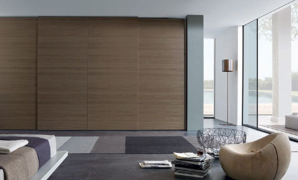 Wardrobe furniture from misuraemme sliding door wardrobe for Bedroom wardrobe door designs