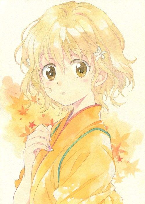 Yellow Hair Girl Hanasaku Iroha Anime
