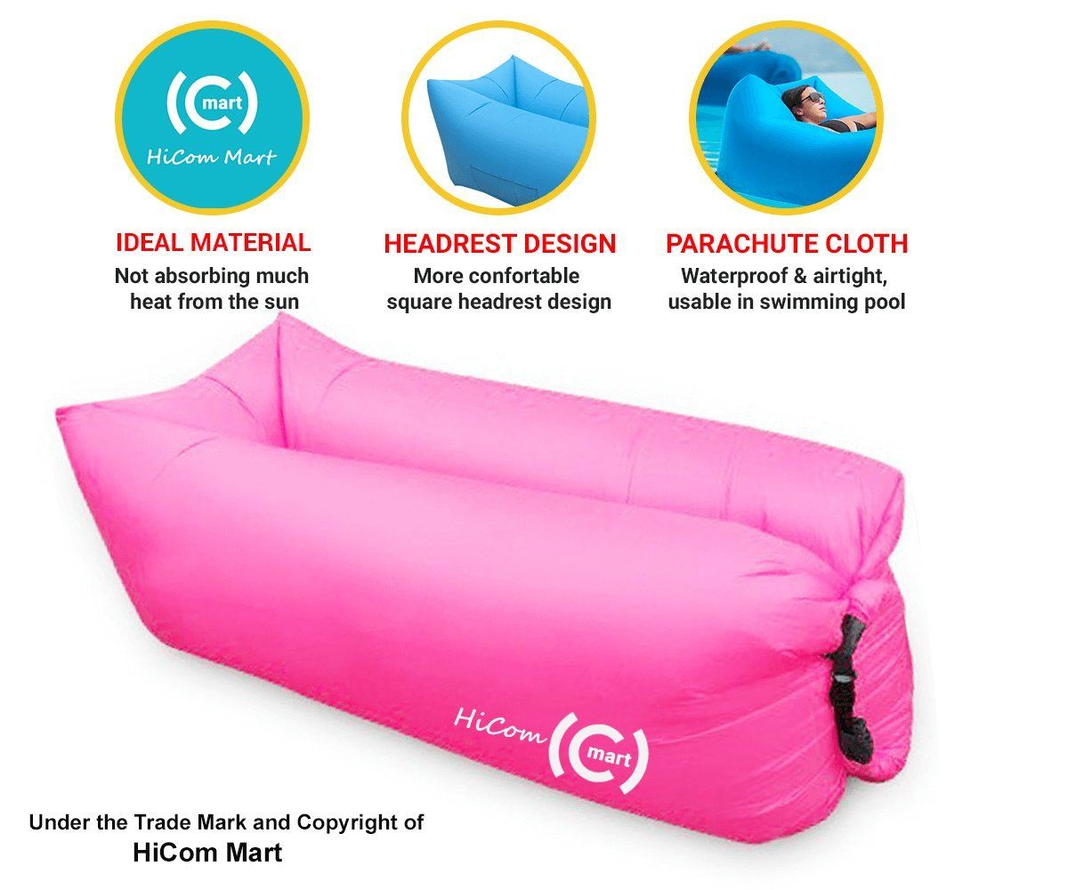 Big Inflatable Couch Hicom Mart Portable Inflatable Lounger Air Chair Blow Up