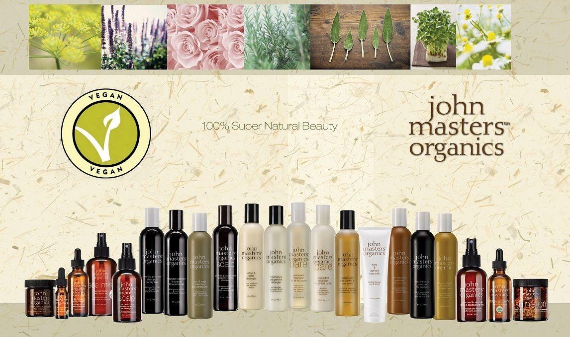 I prodotti John Masters Organics sono per la stragrande maggioranza VEGAN, privi di ingredienti di derivazione animale! Dei quasi 60 prodotti del brand, solo il 10% non può essere considerato vegan in quanto al loro interno sono presenti piccole quantità di miele o cera d'api (ingredienti comunque raccolti in maniera etica). E il restante 90% di prodotti? Sono tutti composti SOLO da estratti organici vegetali, assolutamente compatibili con la filosofia e l'etica vegan.