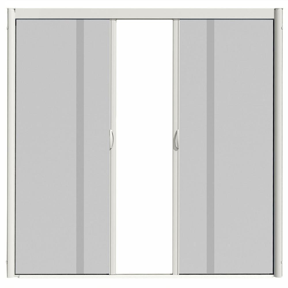 Visiscreen 72 In X 100 In Vs1 White Retractable Screen Door