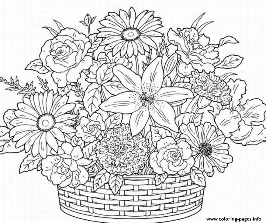 Print cute flower adult coloring pages | diy cards | Pinterest ...
