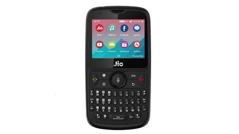 Reliance Jio Phone 2 Priced at Rs 2,999 to Go on Sale on