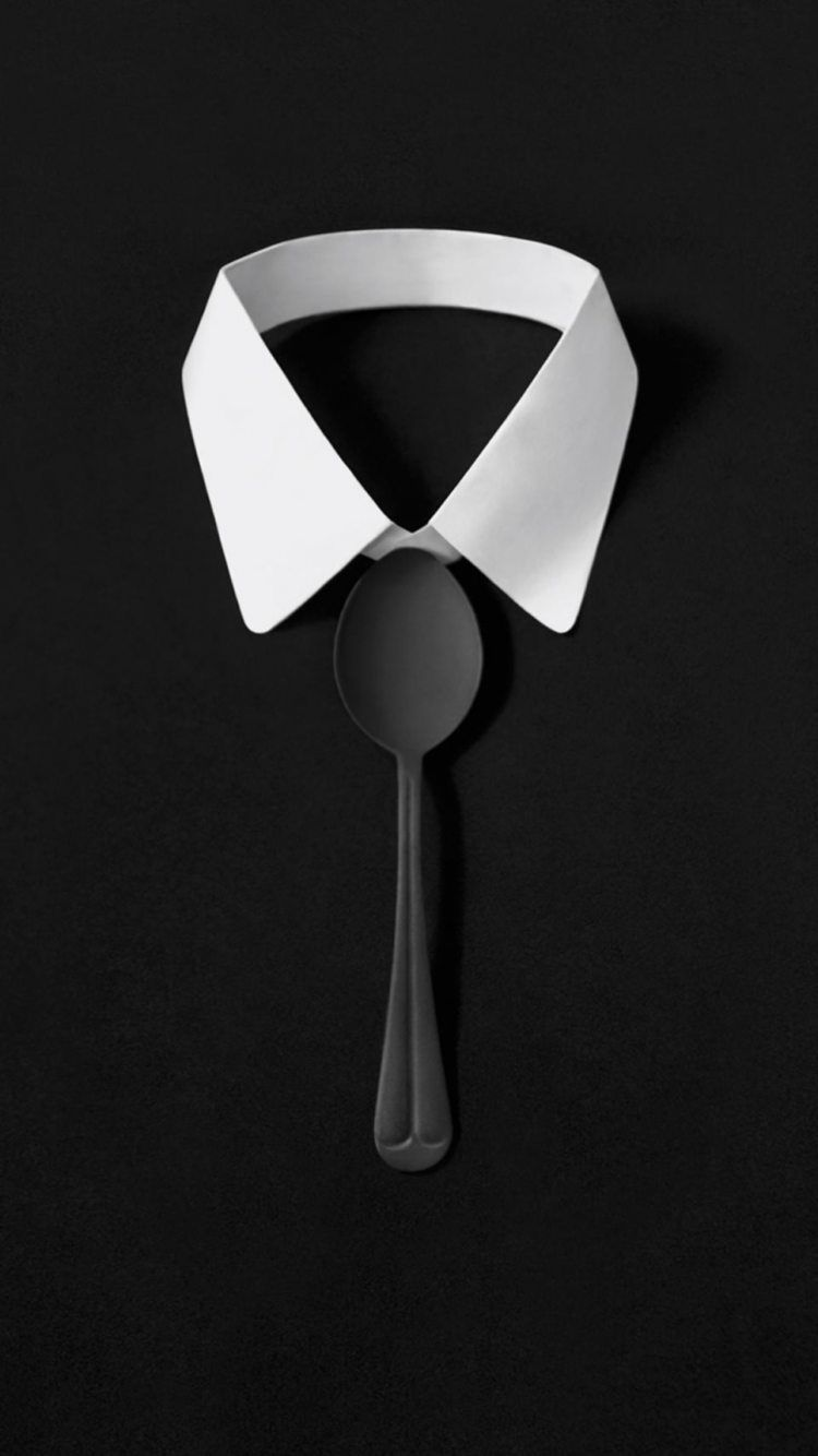 Tap And Get The Free App Art Minimalism Shirt Spoon Tie Black White Hd Iphone 6 Wallpaper 3d Wallpaper Iphone Iphone 6 Wallpaper Best Iphone Wallpapers