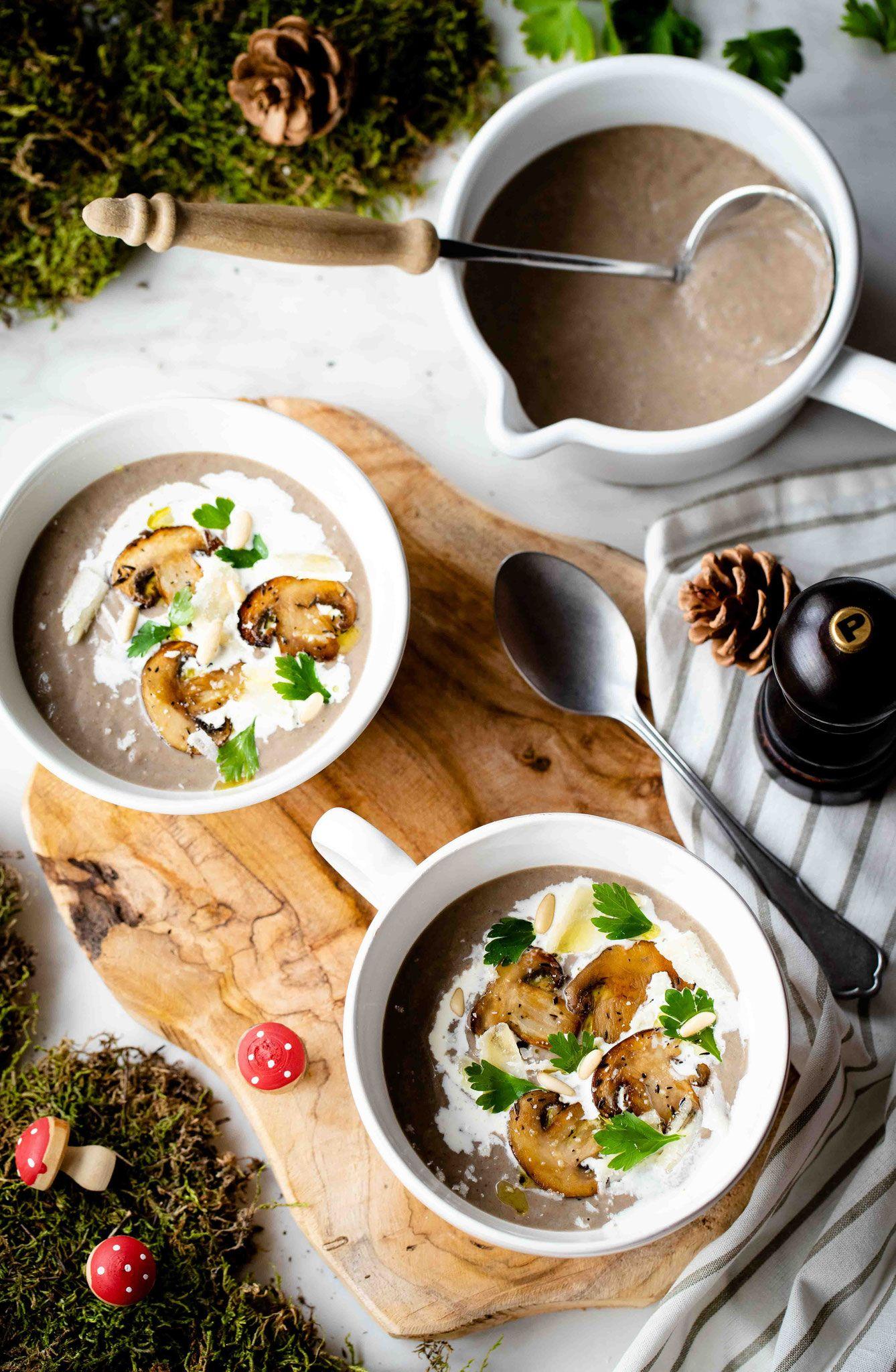 Velouté aux champignons | Velouté champignon, Recette veloute et Dîner d'automne