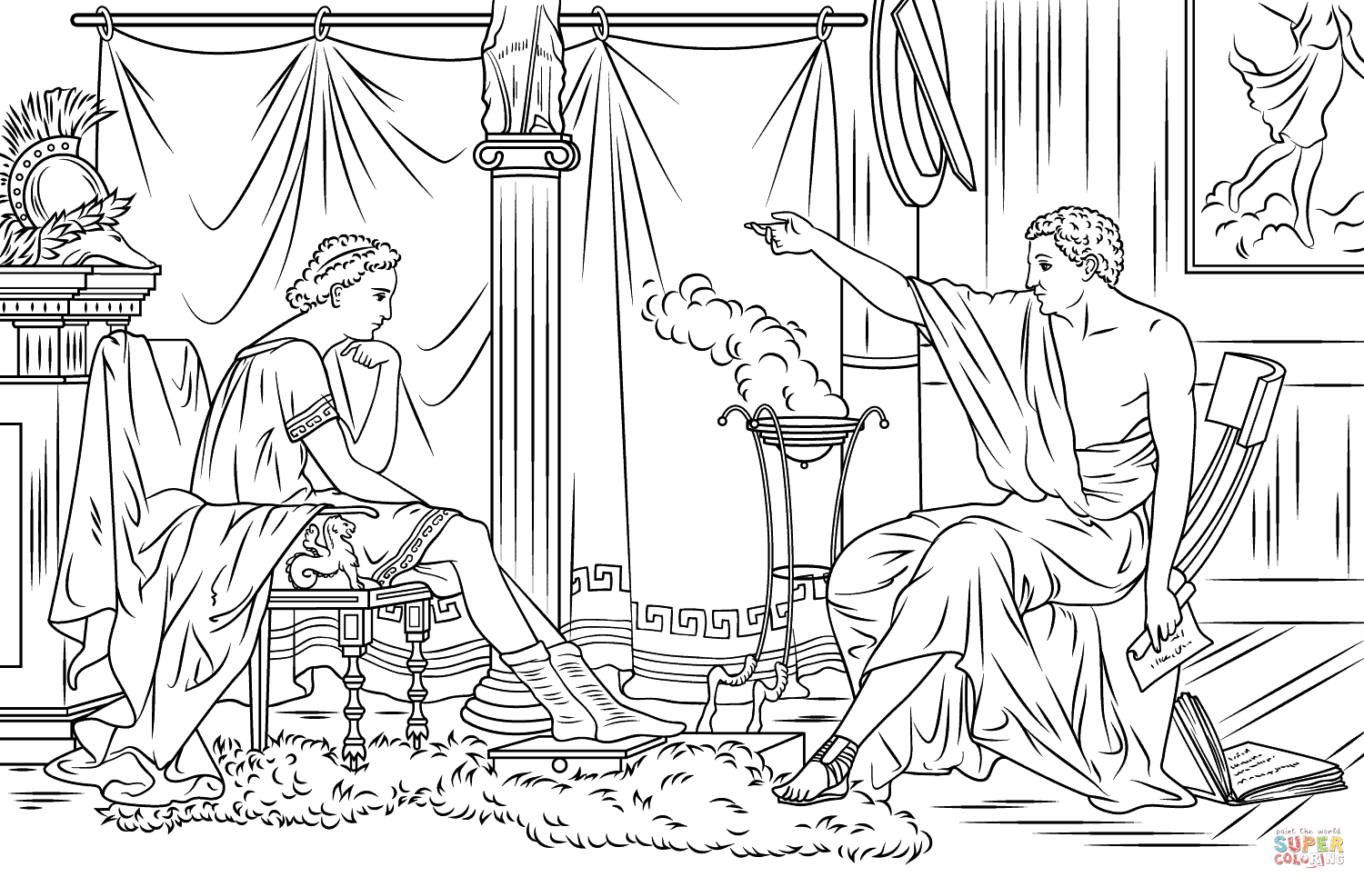 Alexander The Great And Aristotle Super Coloring Coloring Pages Cool Coloring Pages Alexander The Great
