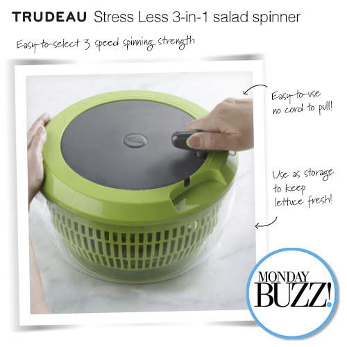 Stress Free No Strings Attached Stick To Your 2016 Healthy Eating Resolution With Our Monday Buzz This Stress Less Trud Salad Spinner Perfect Salads Trudeau