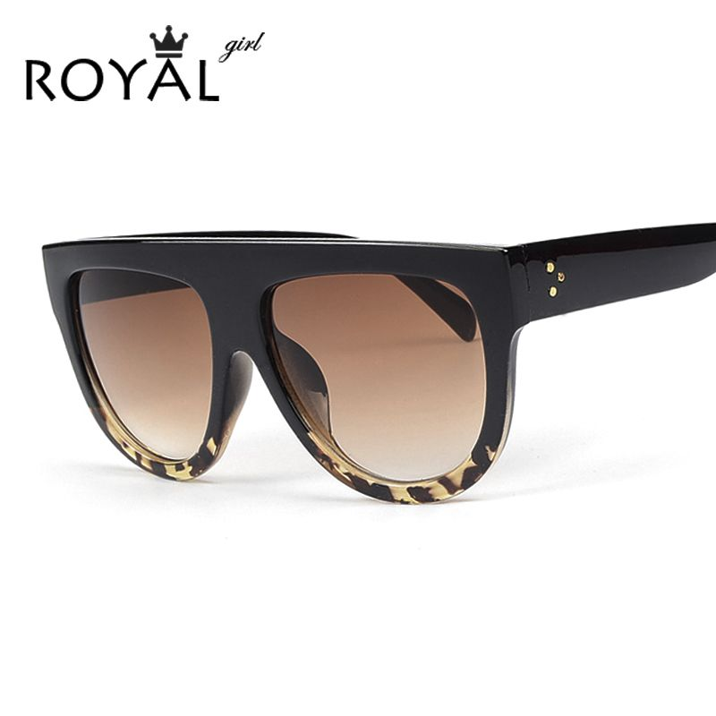 ad1fb48d4d Royal girl最新ブランドデザイナー女性サングラスアセテートサングラスフラットトップシールド形状メガネシャドウss650