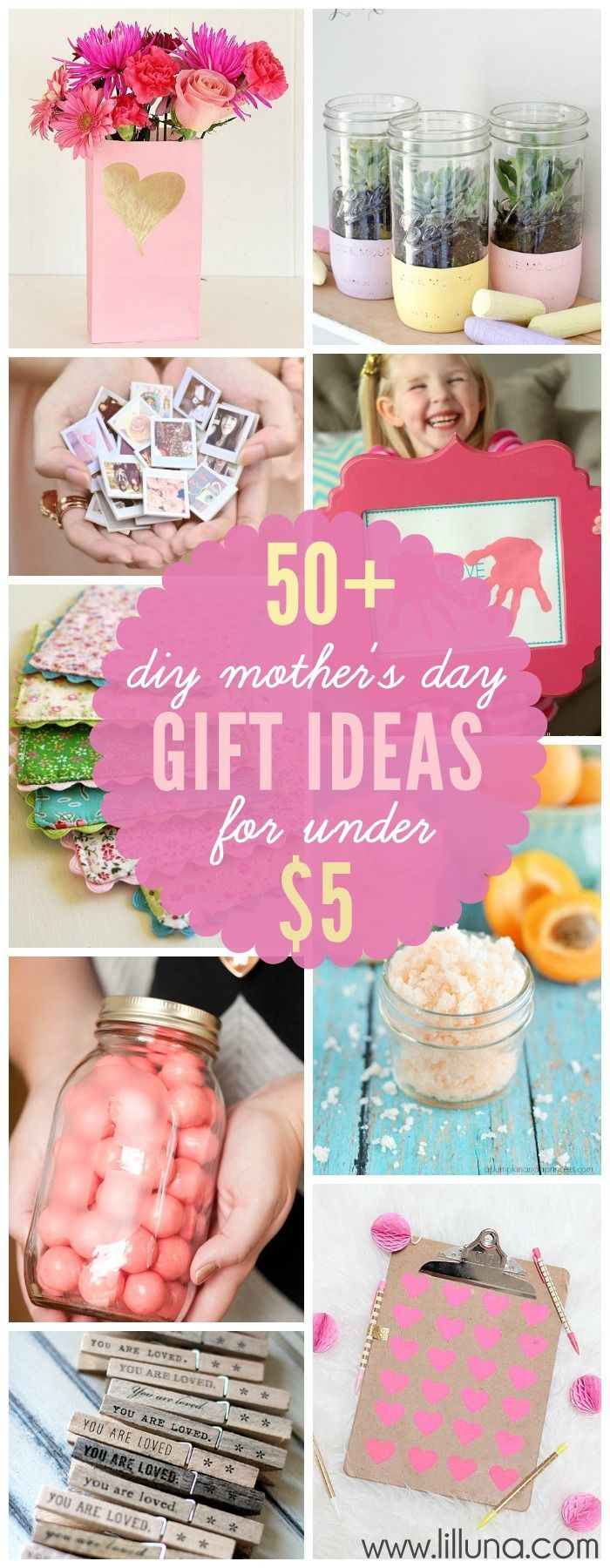 50 Diy Mother 39 S Day Gift Ideas Made For Under 5