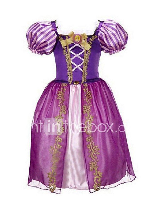 una línea de longitud de tobillo vestido de niña de flores - organza ...