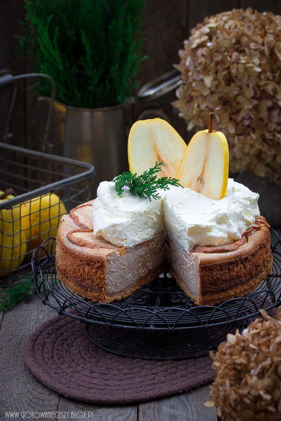 Gingerbread Cheesecake con le pere