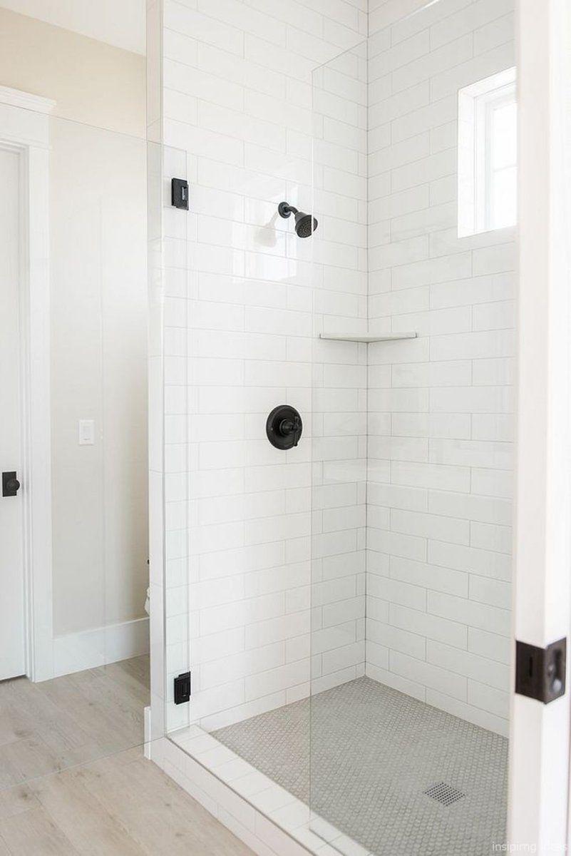 67 Incredible Modern Farmhouse Bathroom Tile Ideas 28 Farmhouse Shower Modern Farmhouse Bathroom Bathroom Remodel Master