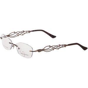Naturally Rimless Women's Eyeglass Frames, Brown