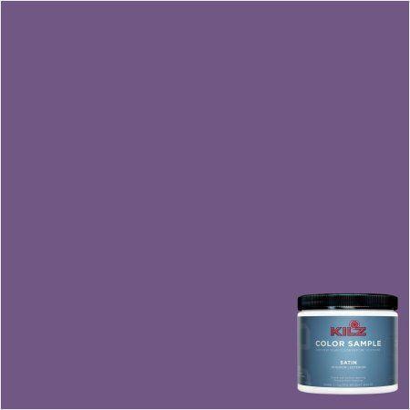 Kilz Interior/Exterior Paint 8 oz. Color Sample, #RH270 Super Violet, Purple