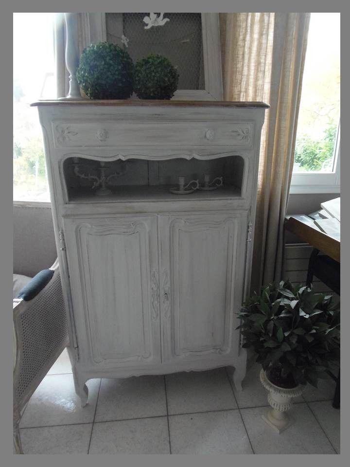 meuble buffet commode ch ne patin perle plateau ch ne. Black Bedroom Furniture Sets. Home Design Ideas