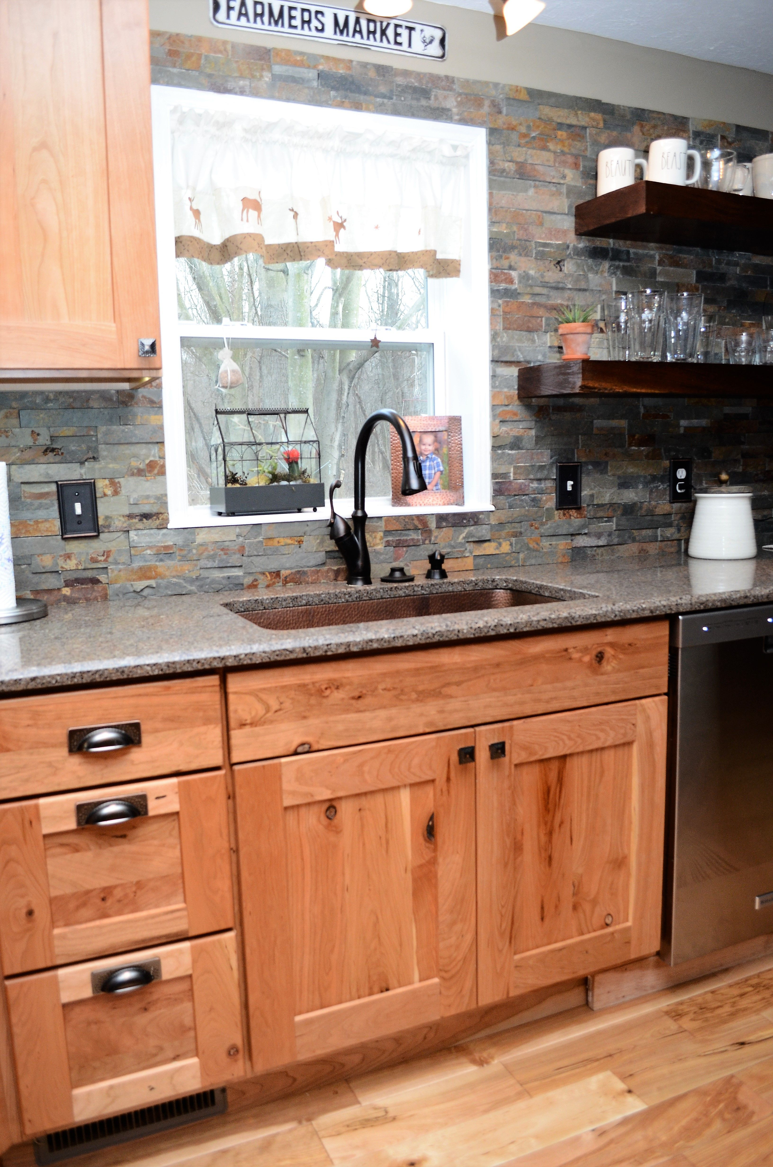 Haas Shakertown Rustic Hickory Honey Kitchen Renovation Rustic Kitchen Hickory Cabinets