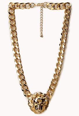 Curb Chain Lion Necklace | FOREVER21 - 1058530610