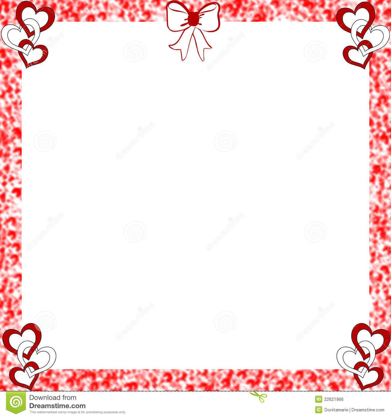 Bordes apenados marco de los corazones de la tarjeta del - Marcos de corazones para fotos ...