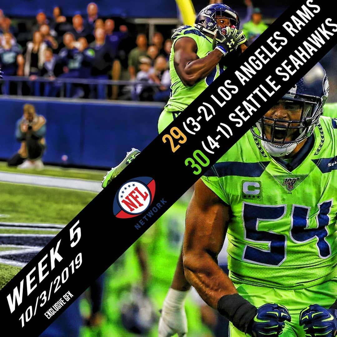 Seattle Seahawks Defeat The Los Angeles Rams 30 29 In Week 5 Of The Nfl Season Nfl Players Nfl Network Nfl