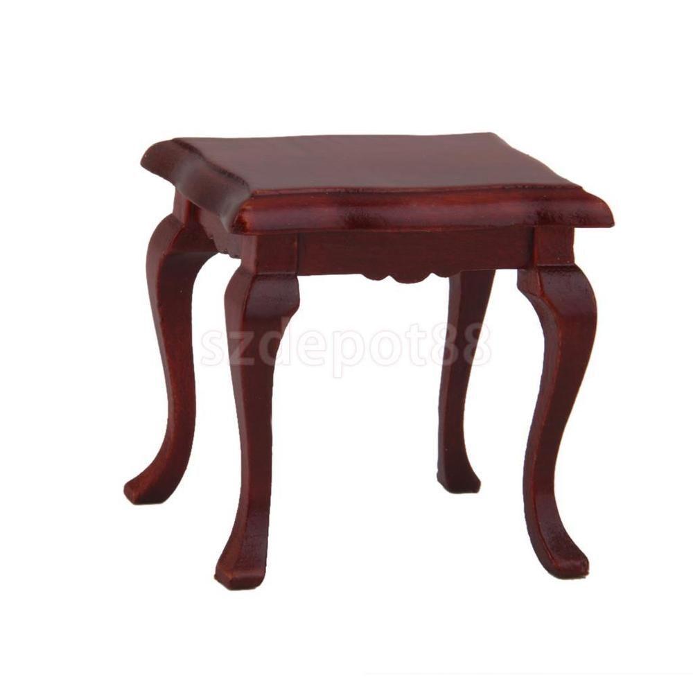 wohnzimmermobel jugendstil : Handmade Wooden Furniture 1 12 Stool For Barbie Dollhouse Living