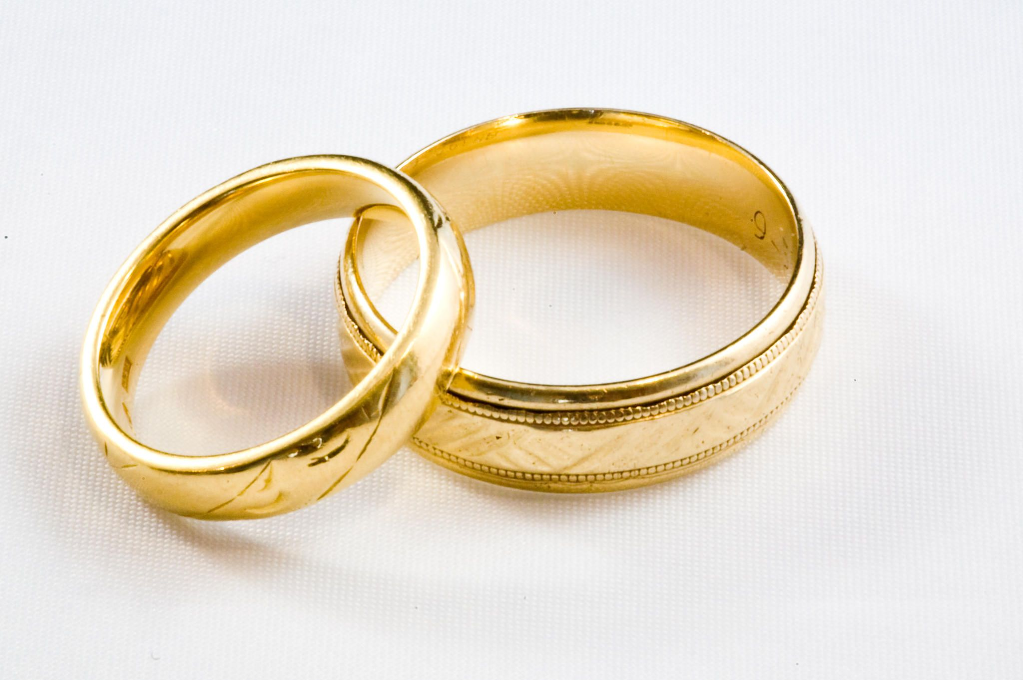 2 gold wedding rings christ centered marriage pinterest