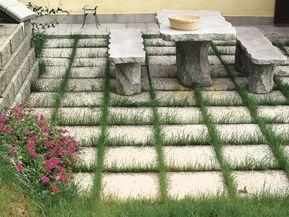 Le piastrelle da giardino si posano come gli autobloccanti ma non