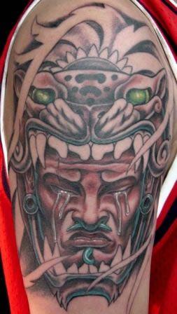 Tatuajes Tatuaje Guerrero Azteca Con Plumas Estatuajes Pictures To
