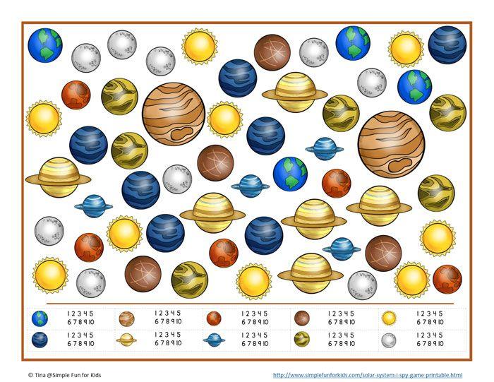 Solar System I Spy Game