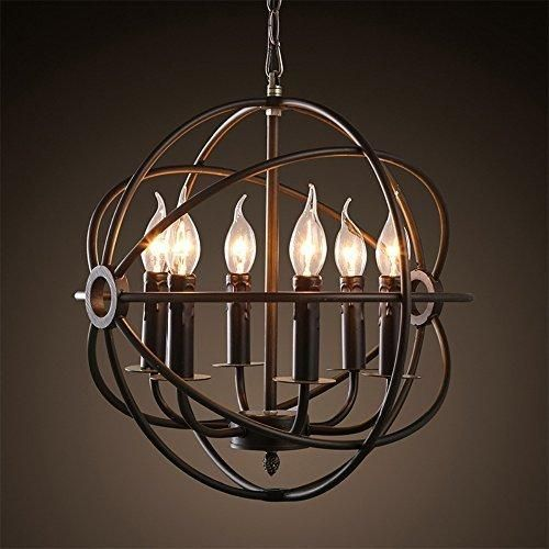 Colorled Retro Wrought Iron Black Candle Chandeliers Creative Cafe