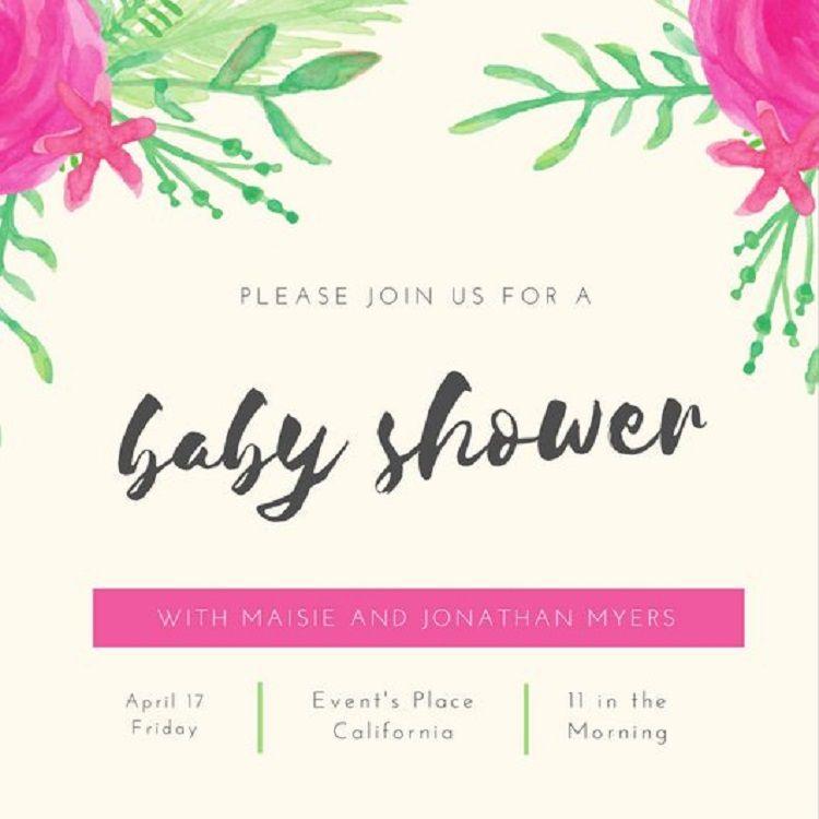 Baby Shower Invitation Card Design Online Party Ideas Pinterest