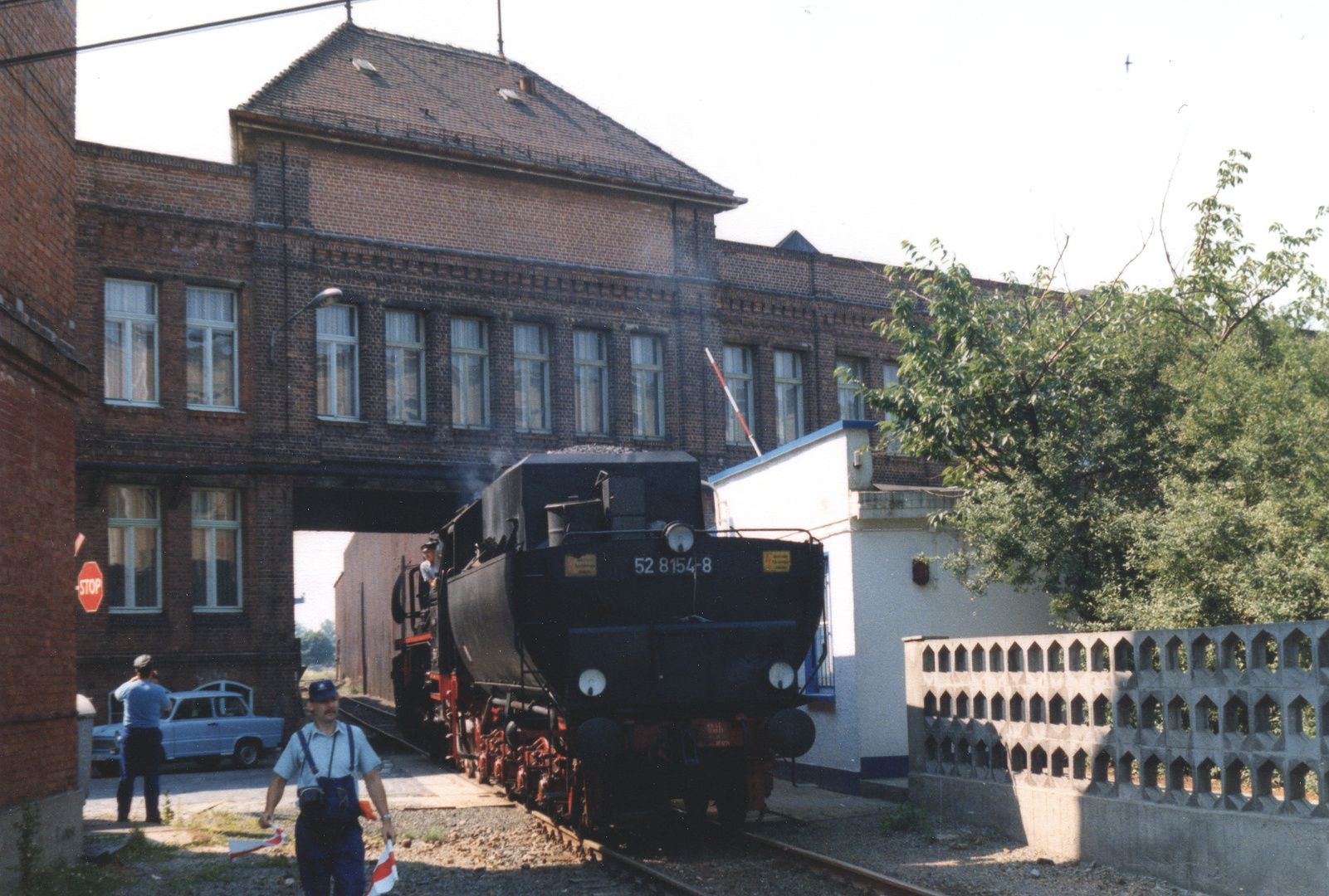 Dampf auf der Leipziger Hafenbahn 3 in 2020 Bahn