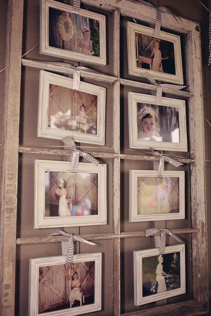 Porta foto en ventana antigua   recicla   Pinterest   Ventanas ...