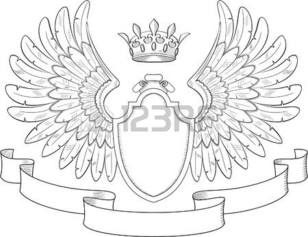 Engraved Heraldry Symbol For Luxury Design Family Crest Template Coat Of Arms Family Crest