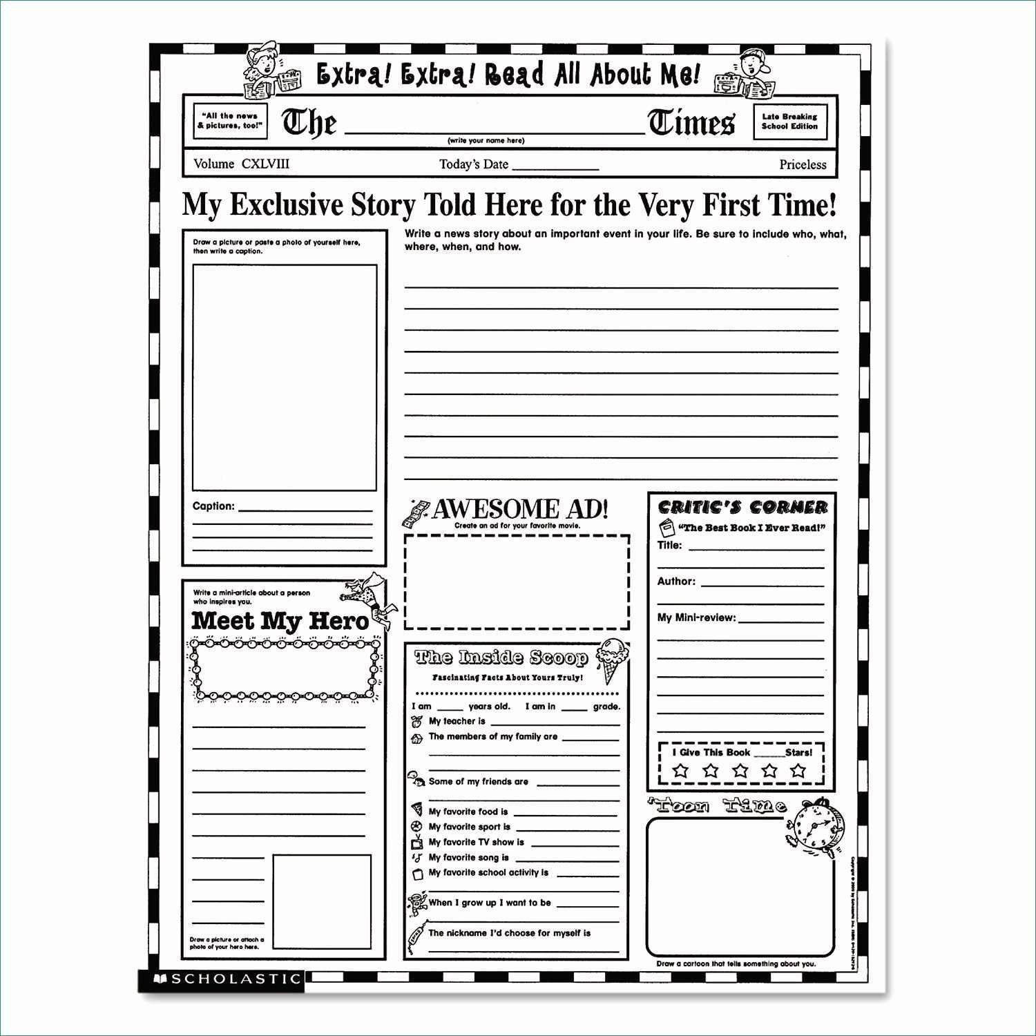Newspaper Format Google Docs Luxury Free Newspaper Template Within