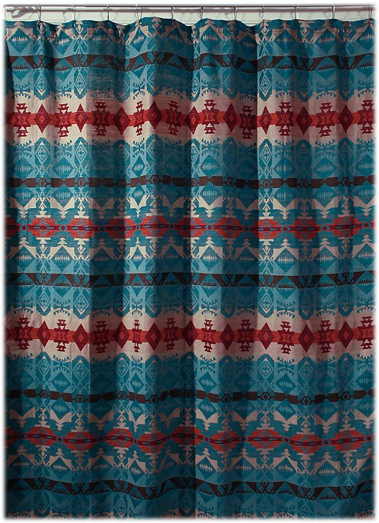 Turquoise Chamarro Collection Shower Curtain Bass Pro Shops