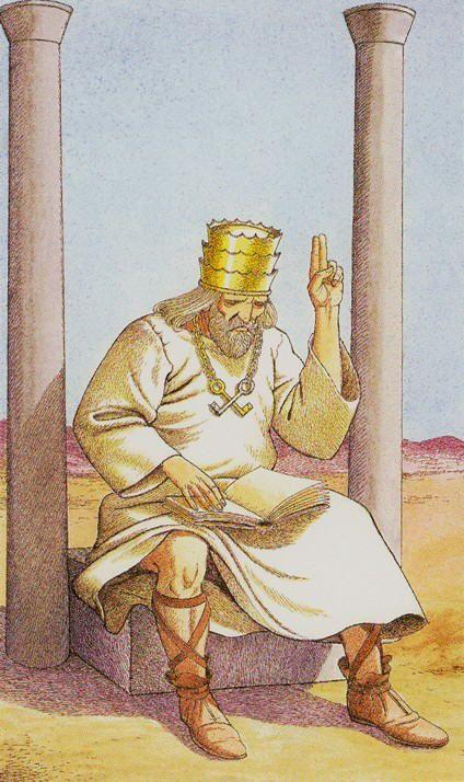 SBC- V - Der Hohepriester Sharman Caselli Tarot