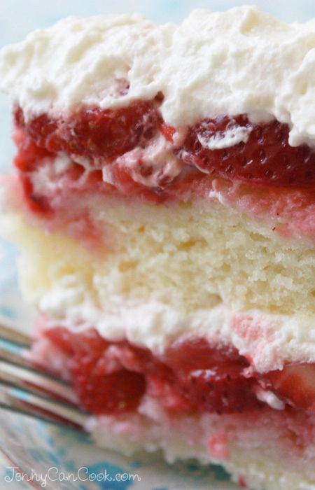 Strawberry Cake - A show-stopping cake made with fresh berries and